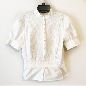 Antonio Melani Ivory Embroidered Lace Top Sz XS